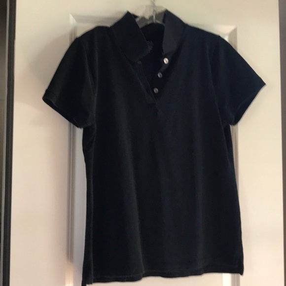 J. Crew Tops - Classic black pique polo